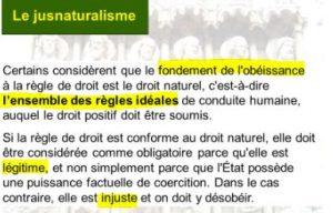 jusnaturalisme , droit naturel, définition
