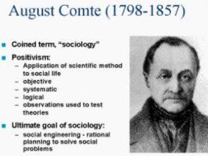 sociologie du droit : Auguste comte, positivisme sociologique