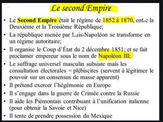 Le second empire, histoire résumé