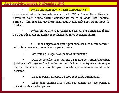 Résumé, commentaire, fiche Arrêt société lambda CE 6 décembre1996